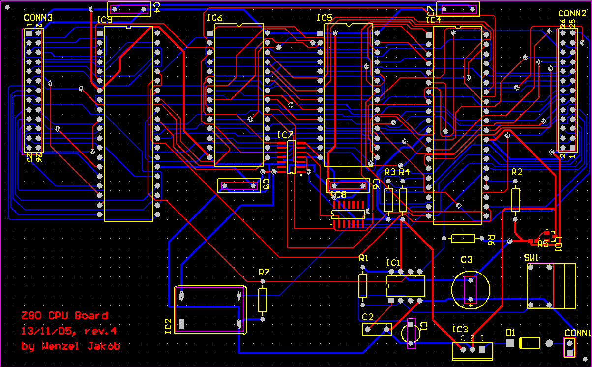 A Homebrew Z80 Microcomputer Board Design The Pcb Guide Printed Circuit Layout There Are Also Pdf Files Of Schematics And